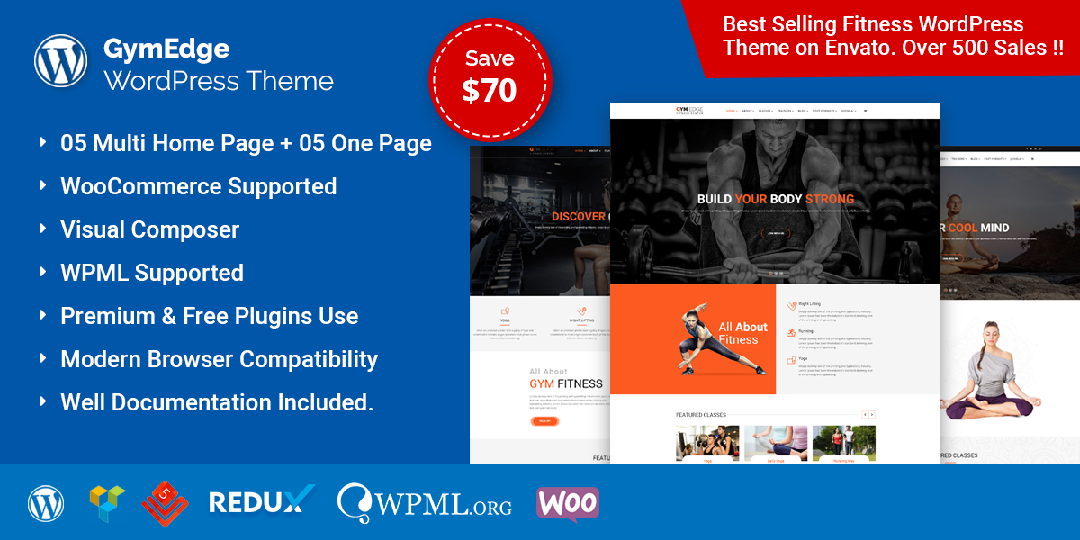 GymEdge – Gym Fitness WordPress Theme
