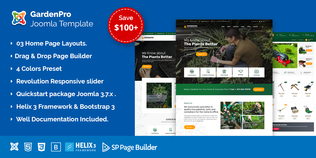 GardenPro – Gardening and Landscaping Joomla Template