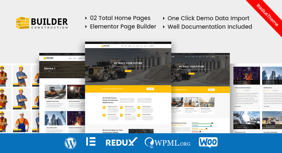 Builder – Construction Company WordPress Theme