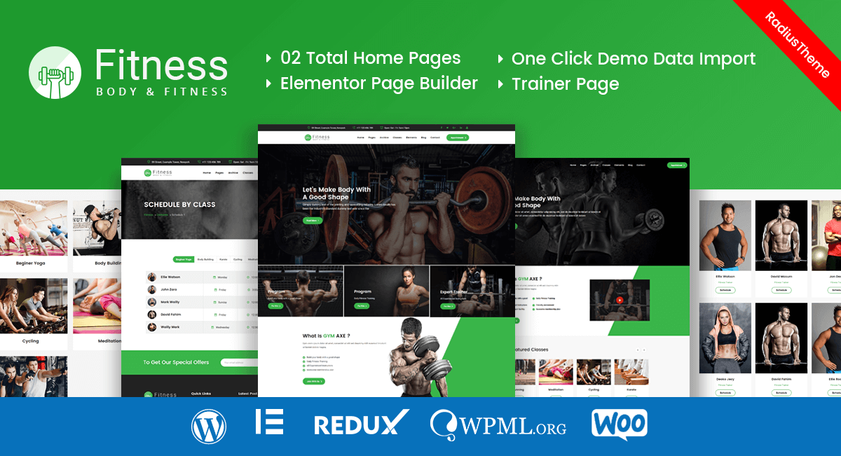 Fitness – Gym Fitness WordPress Theme