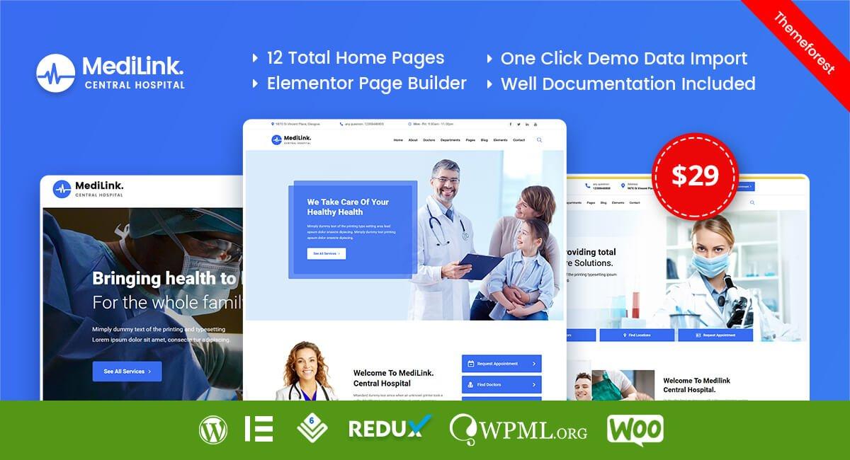 Medilink – Health & Medical WordPress Theme