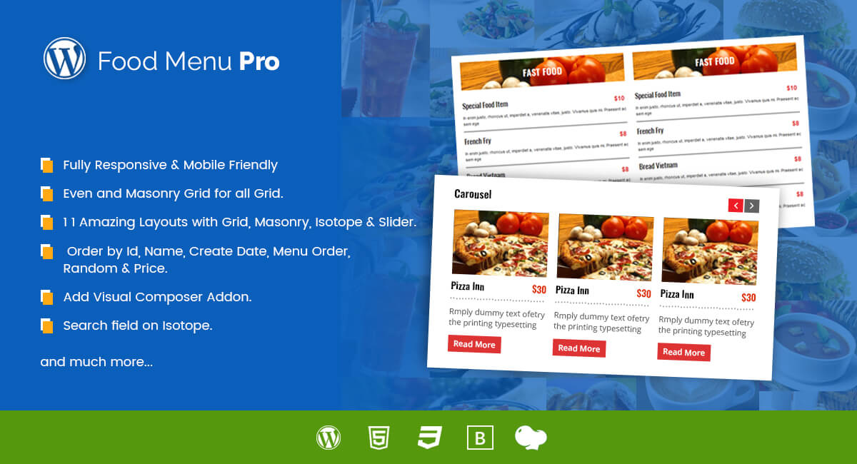 Food Menu PRO for WordPress