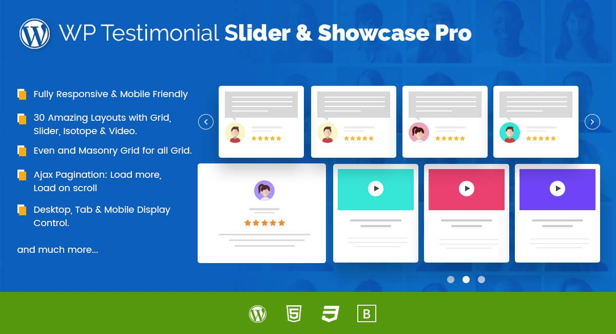 WP Testimonial Slider and Showcase PRO for WordPress