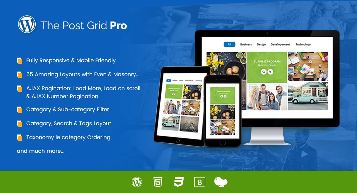 The Post Grid Pro for WordPress