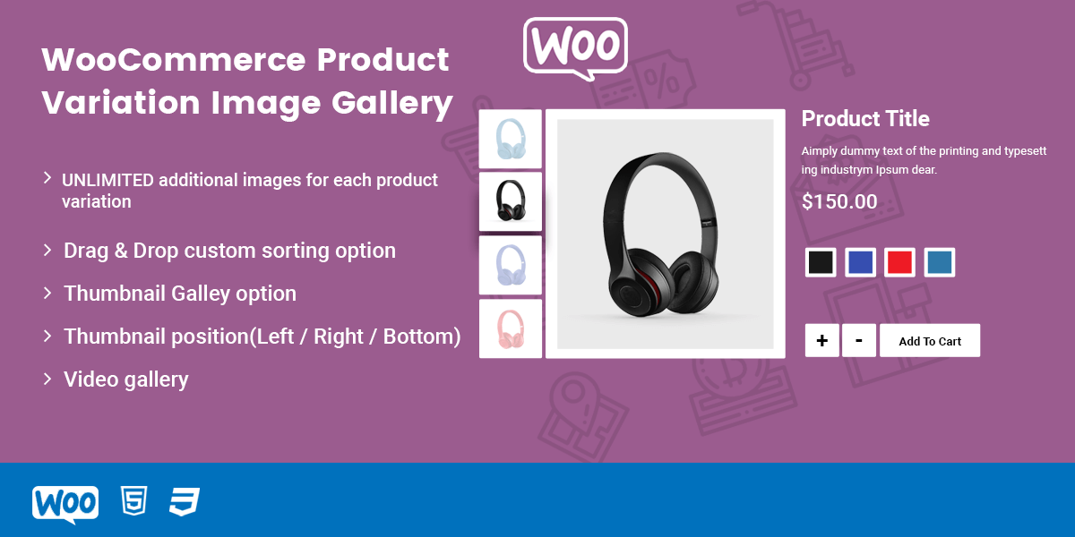 WooCommerce Variation Images Gallery PRO