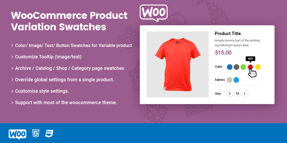 WooCommerce Variation Swatches PRO