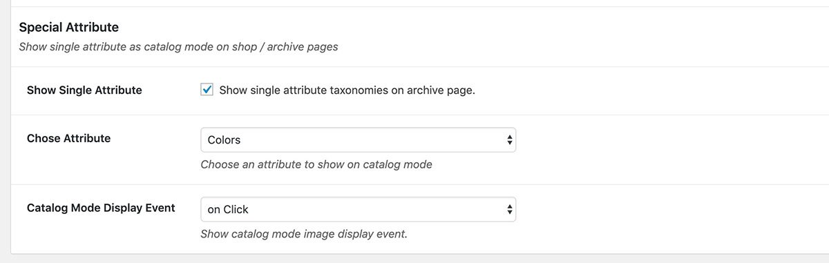 image variation swatches tooltip in archive page
