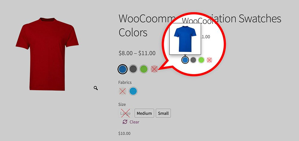 image tooltip for product detail page