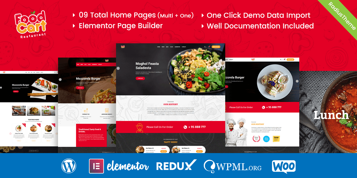 FoodCart – Restaurant WordPress Theme