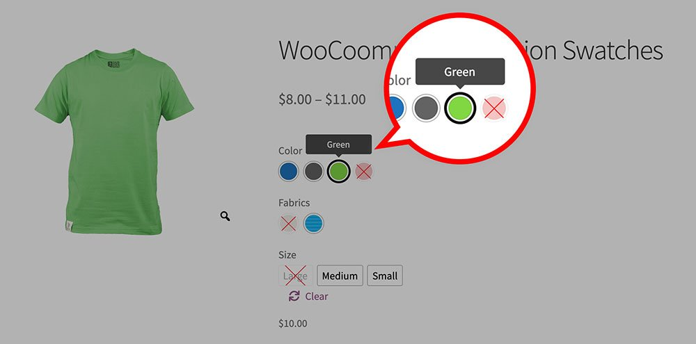 Tooltip text customization per product