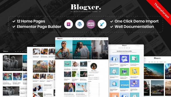 Blogxer – Blog & Magazine WordPress Theme