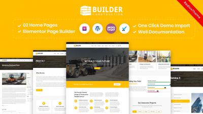 Builder – Construction Company WordPress Theme
