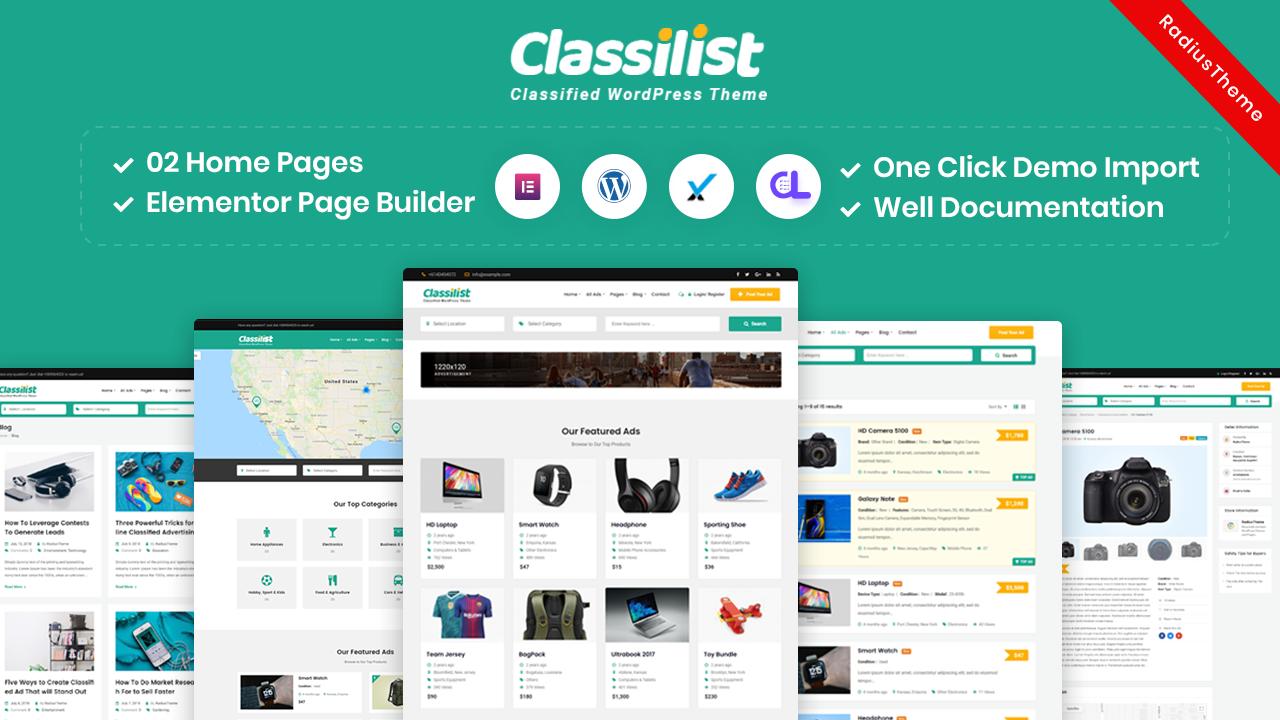 ClassiList – Classified ads WordPress Theme