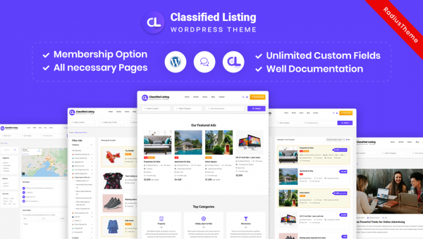 Classifiedads – Classified Ads WordPress Theme