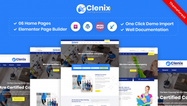 Clenix – Cleaning Services WordPress Theme