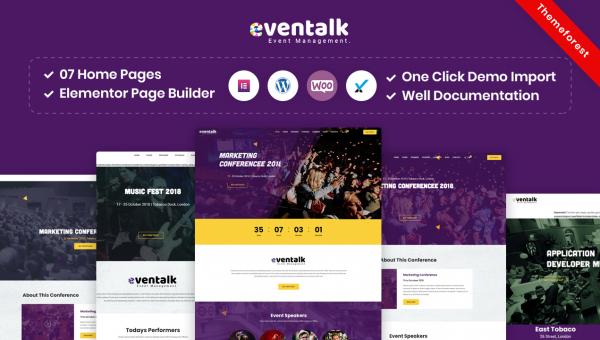 EvenTalk – Event Conference WordPress Theme