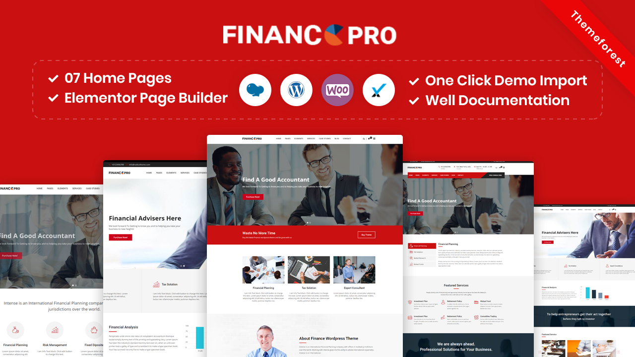 Finance Pro – Finance Business & Consulting WordPress Theme