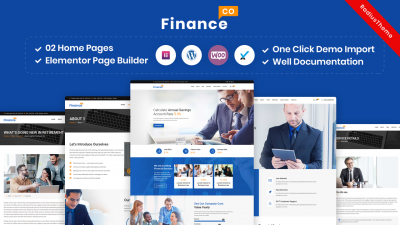 FinanceCo – Finance Business & Consulting WordPress Theme