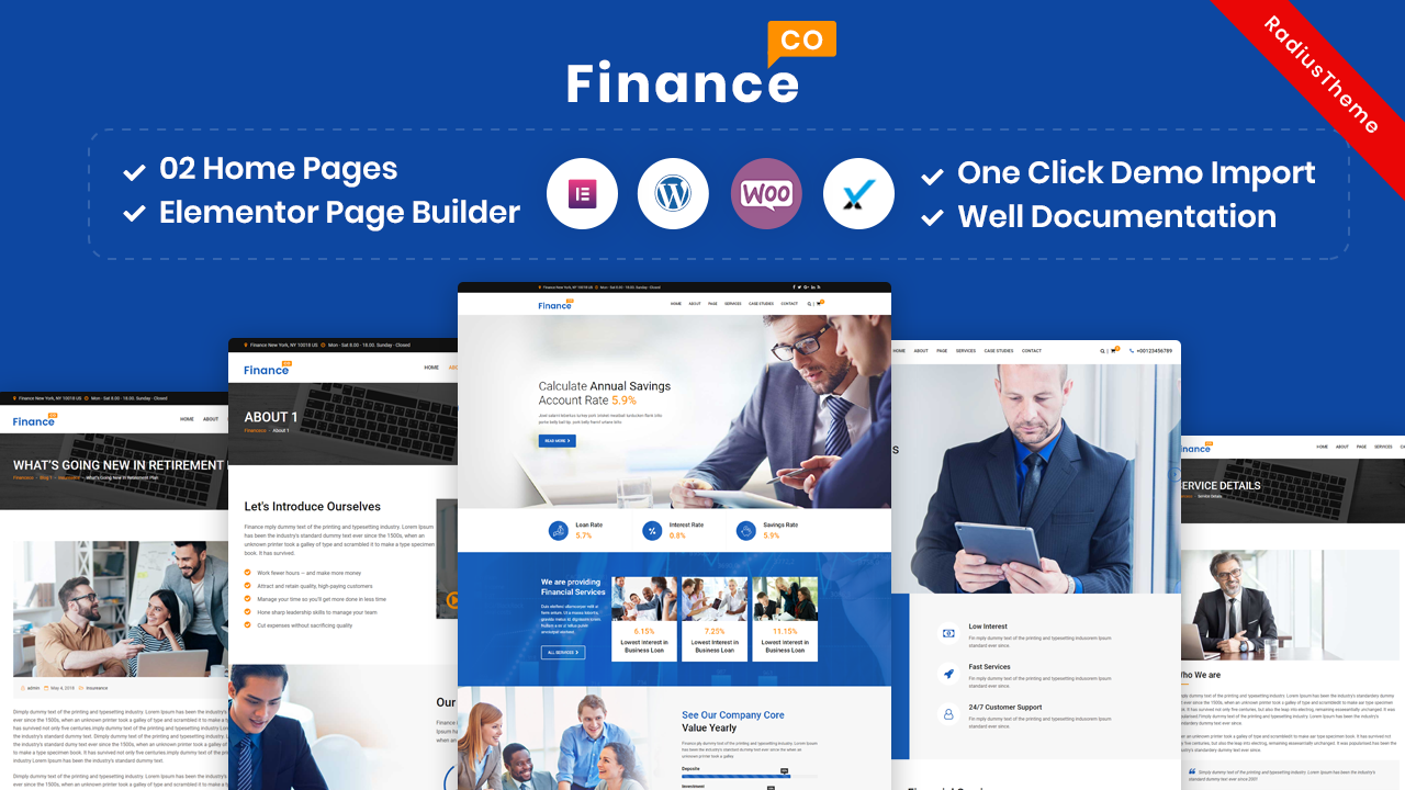 FinanceCo – Finance Business & Consulting WordPress Theme