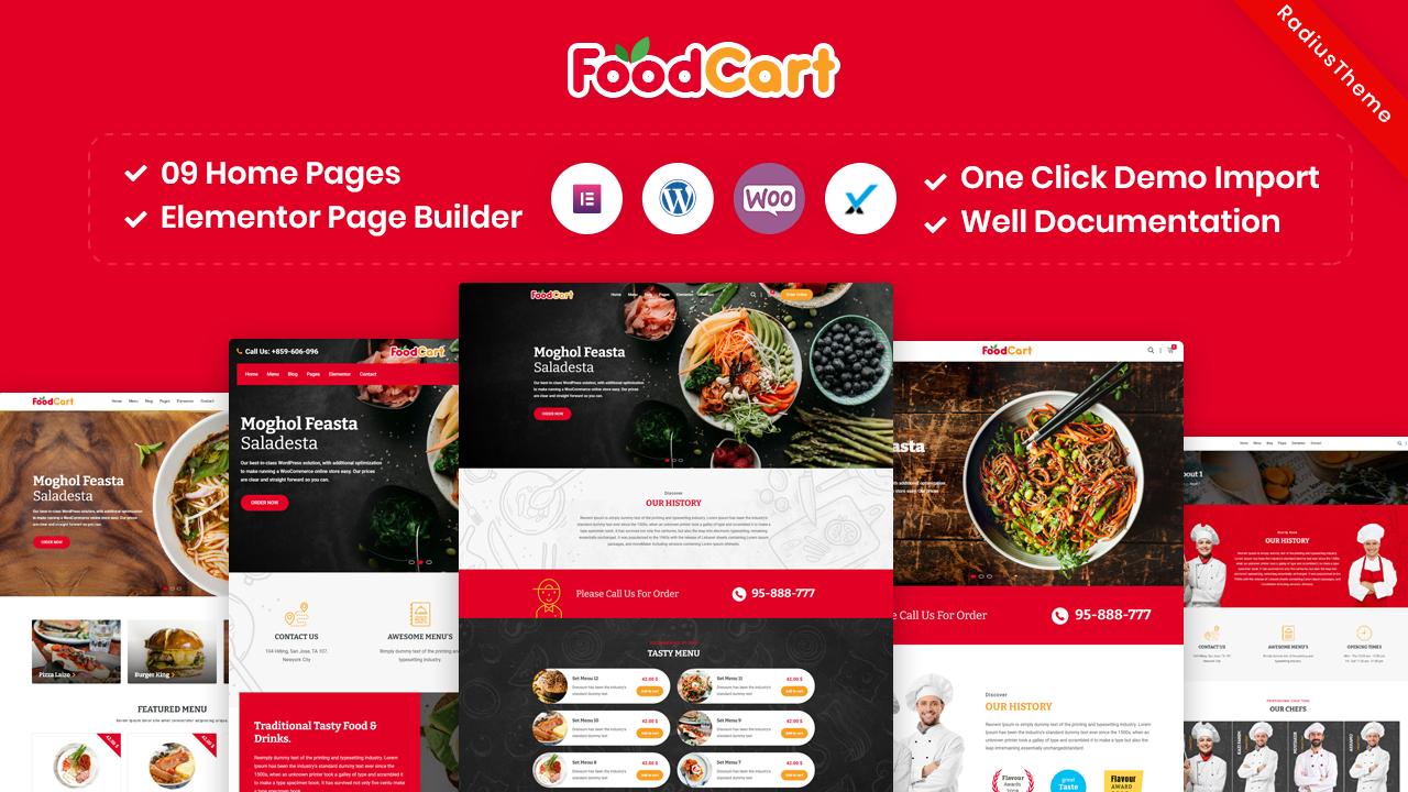 FoodCart – Restaurant WordPress Theme