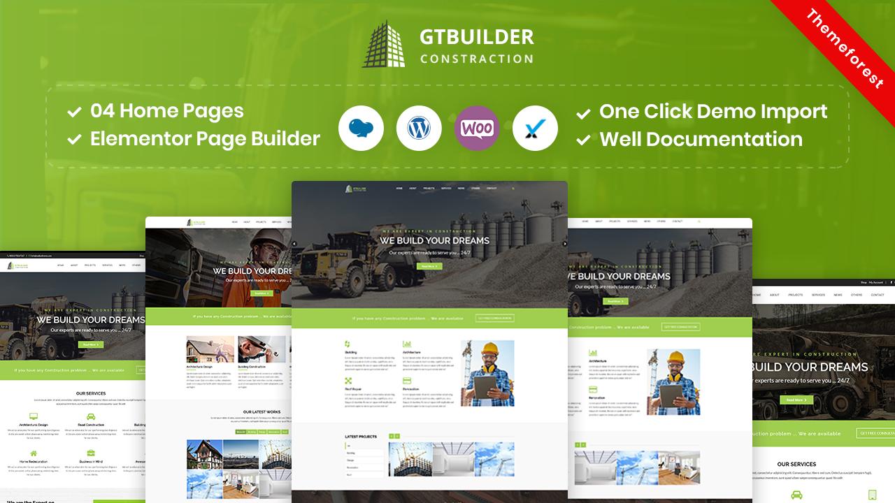 GTBuilder – Construction & Building WordPress Theme