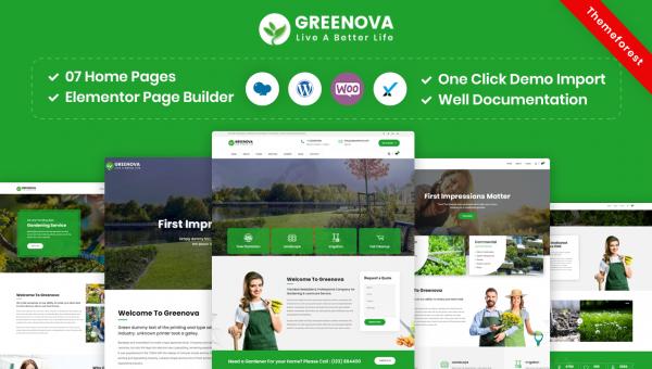 Greenova – Gardening & Landscaping WordPress Theme