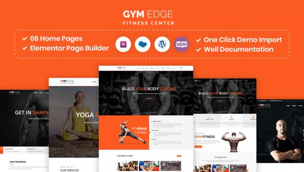 Gym Edge – Gym Fitness WordPress Theme