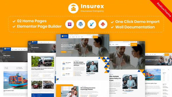 Insurex – Insurance Company WordPress Theme