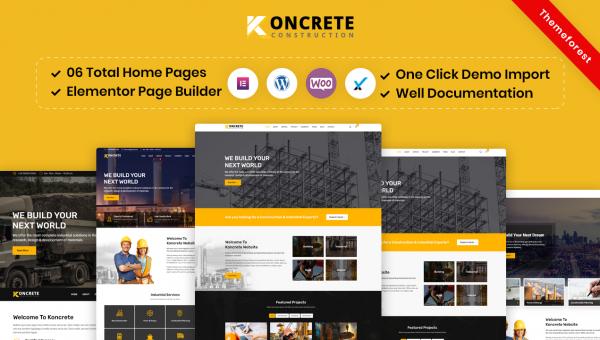 Koncrete – Construction Building WordPress Theme