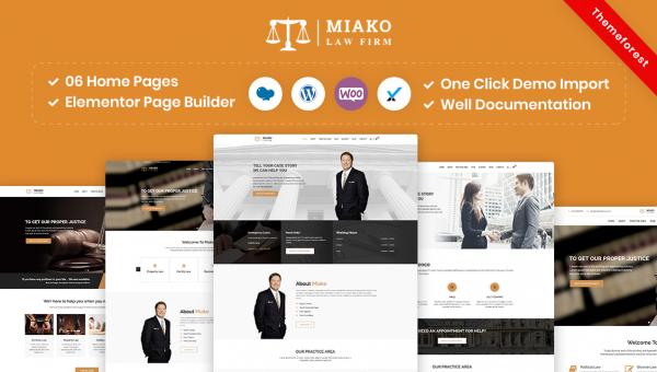 Miako – Lawyer & Law Firm WordPress Theme