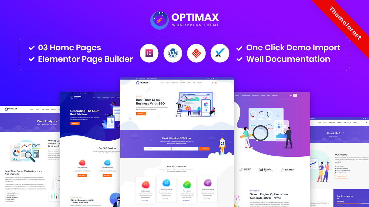 Optimax – SEO & Marketing WordPress Theme