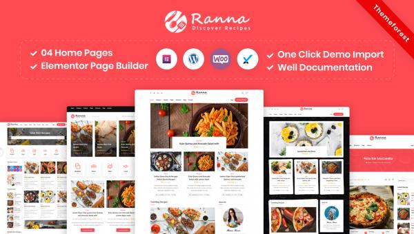 Ranna – Food & Recipe Blog WordPress Theme