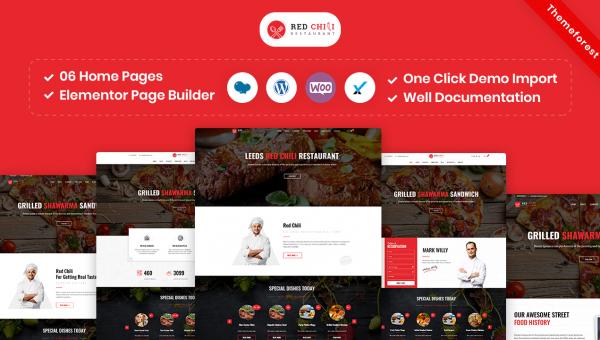 RedChili – Restaurant WordPress Theme