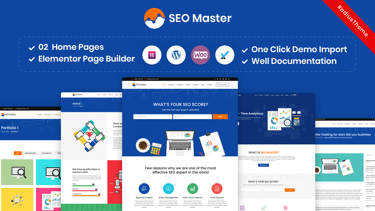 SEO Master – SEO Digital Marketing Agency WordPress Theme