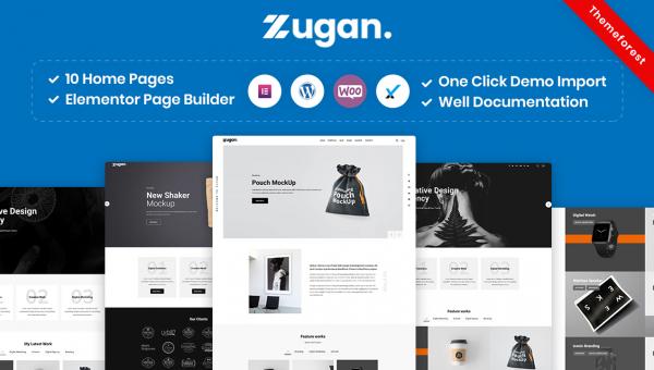 Zugan – Minimal Portfolio WordPress Theme