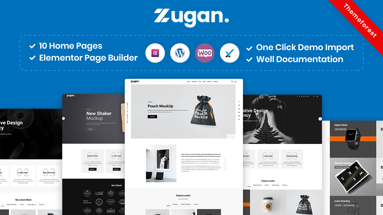 Zugan – Minimal Portfolio WordPress Theme