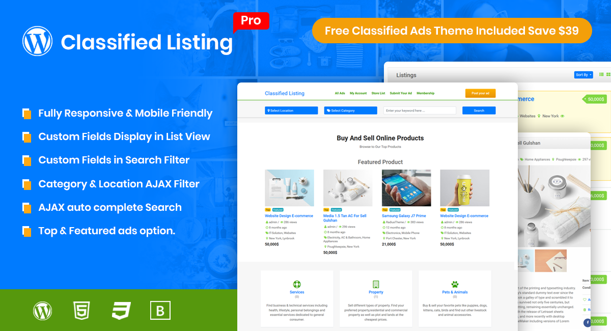 Classified Listing Pro for WordPress