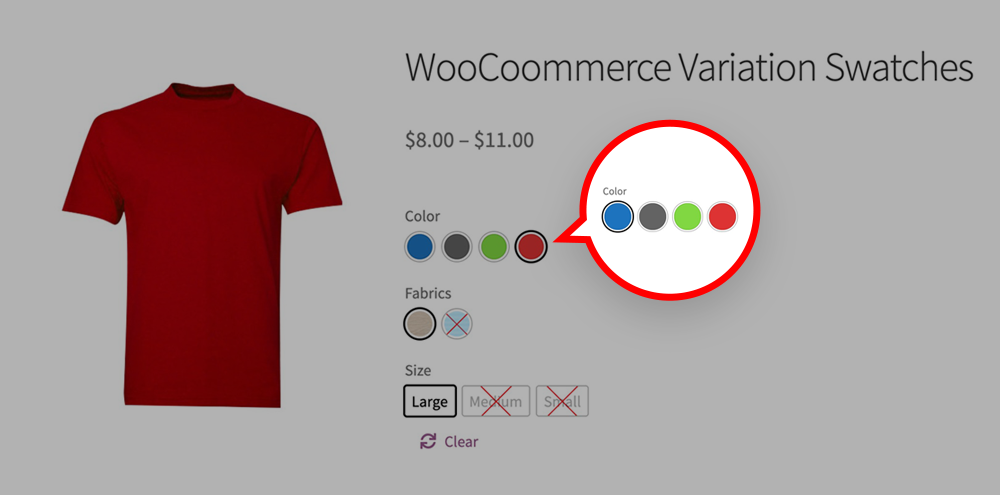 Woocommerce Color Variation Swatches