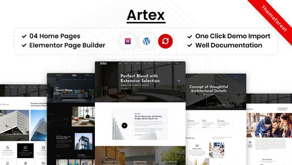 Artex – Architecture & Interior WordPress Theme