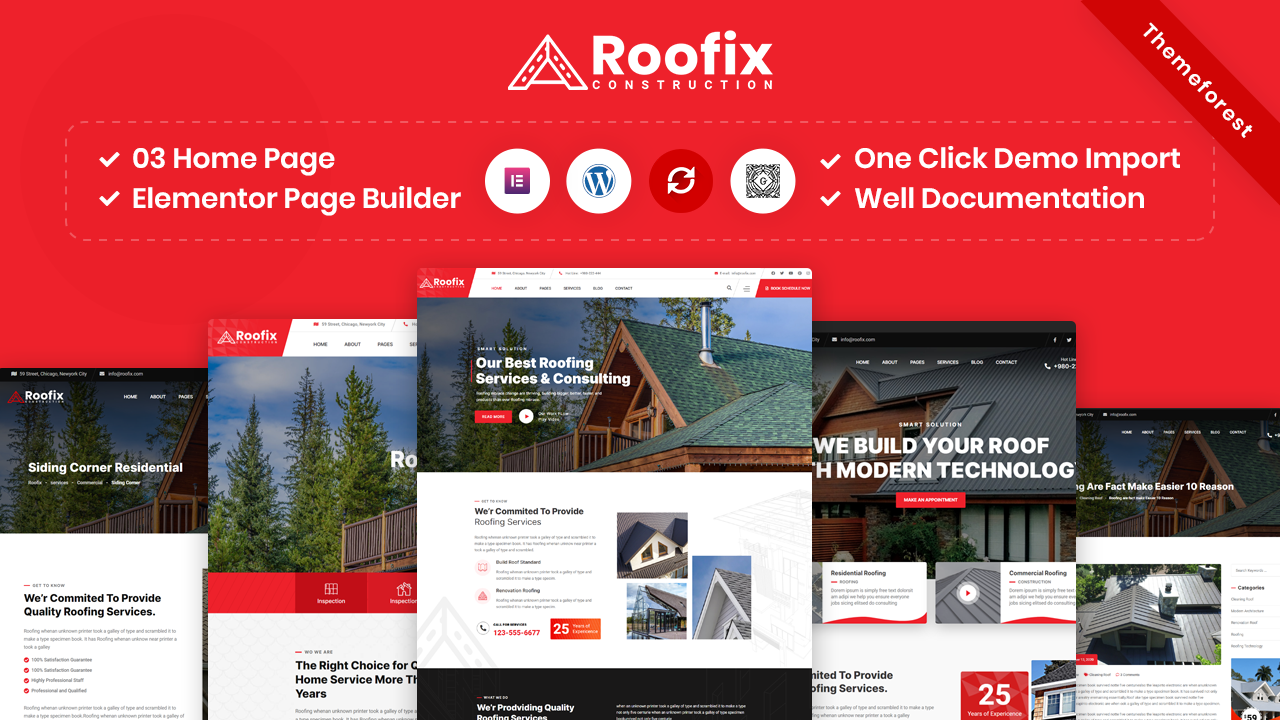 Roofix – Roofing Services WordPress Theme