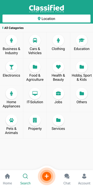 app search page
