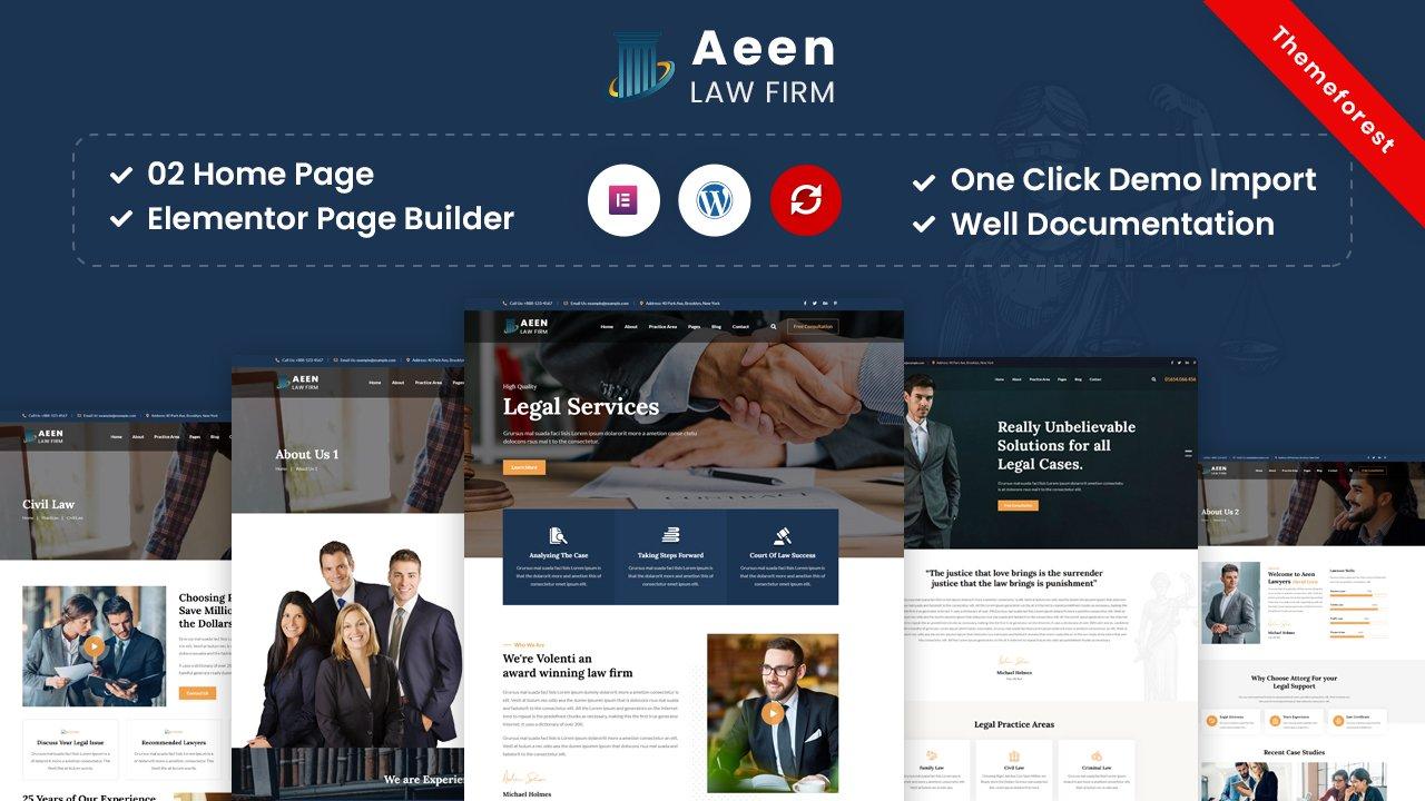 Aeen – Attorney and Lawyer WordPress Theme