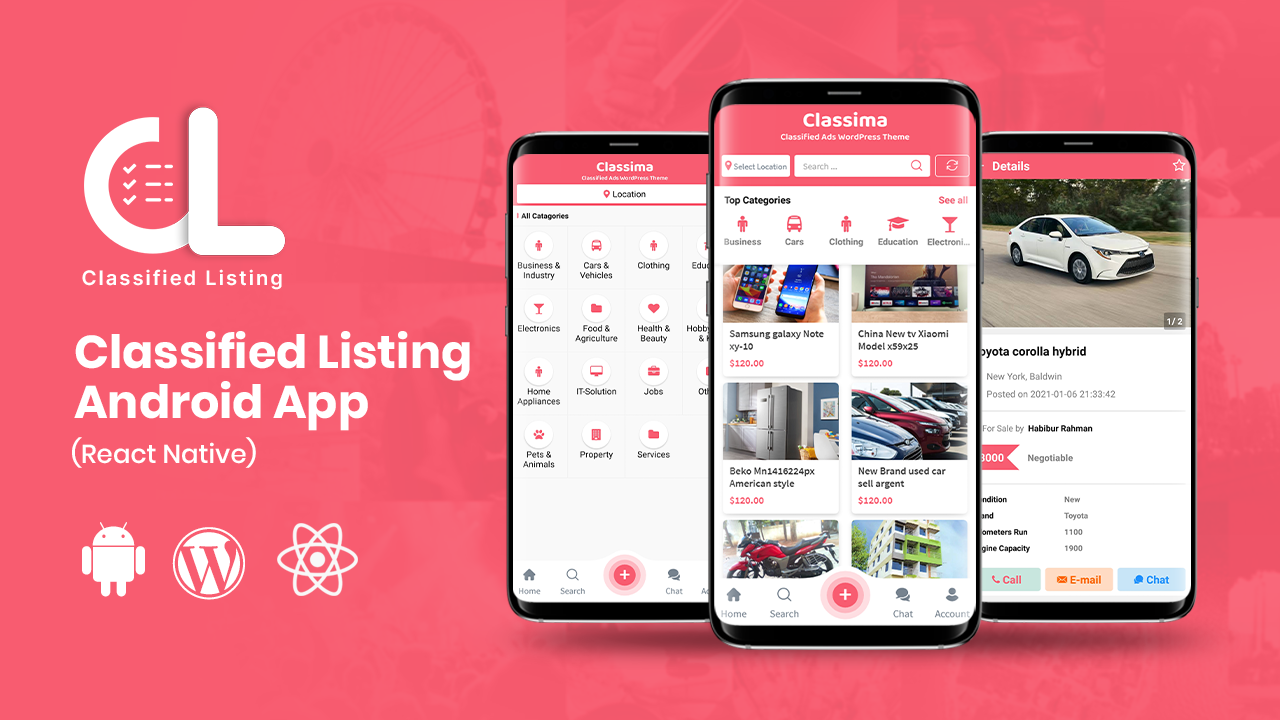 Classima – Classified ads Android & iOS App
