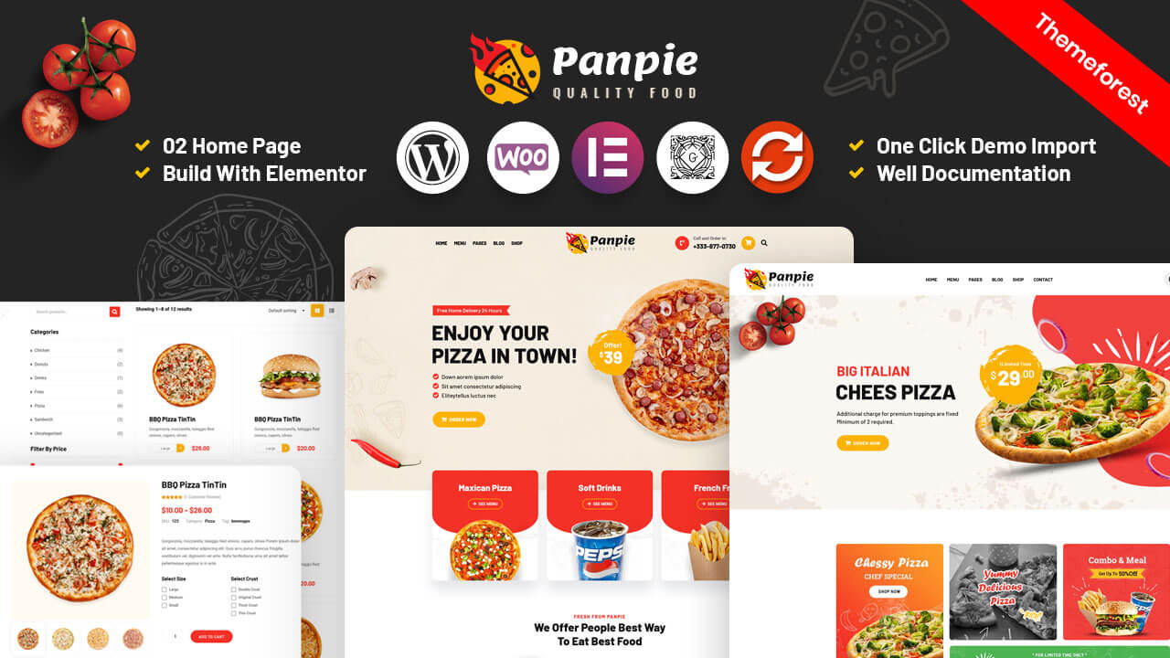 Panpie – Restaurant WordPress Theme